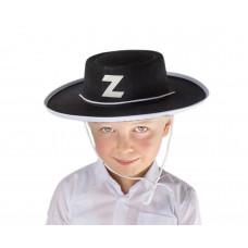 GoDan Gyerek Zorro kalap - fekete Előnézet