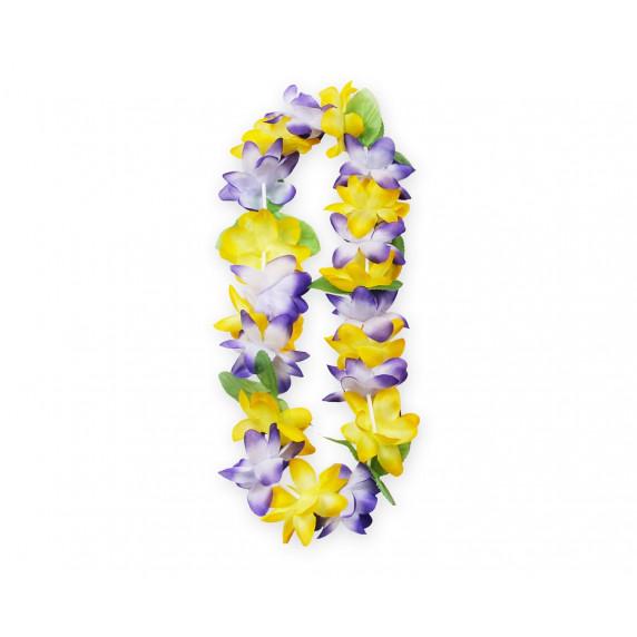 GoDan Hawaii virágfüzér nyaklánc -sárga-lila