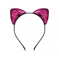GoDan Cicafüles hajpánt flitterekkel - rózsaszín