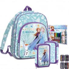 Kids Licensing Jégvarázs Olaf Frozen iskolai szett 2020 - hátizsák, tolltartó, színező szett Előnézet