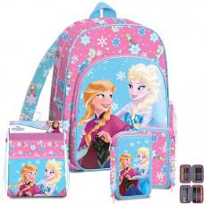 Kids Licensing Jégvarázs Frozen iskolai szett 2020 PINK - hátizsák, tolltartó, tornazsák Előnézet