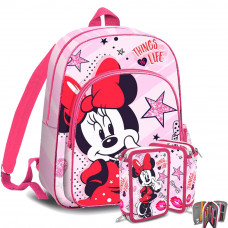 Kids Licensing MINNIE iskolai szett - hátizsák, tolltartó Előnézet