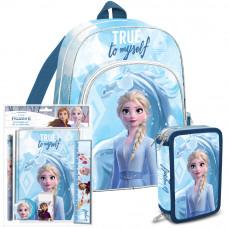Iskolai szett Kids Licensing Jágvarázs 2021 KÉK - hátizsák, tolltartó, füzet készlet Előnézet
