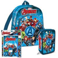 Iskolai szett Kids Licensing Avengers 2021 - hátizsák, tolltartó, füzet készlet