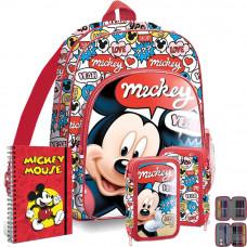 Kids Licensing MICKEY iskolai szett - hátizsák, tolltartó,spirálfüzet Előnézet