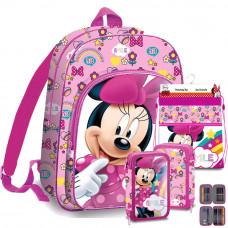Kids Licensing Minnie iskolai szett 2020 RÓZSASZÍN - hátizsák, tolltartó, tornazsák Előnézet