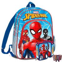 Kids Licensing - Pókember-iskolai szett 2020-hátizsák, tolltartó-világoskék