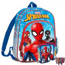 Kids Licensing - Pókember-iskolai szett 2020-hátizsák, tolltartó-világoskék Előnézet