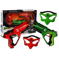 Call Of Life Lézeres fegyver és maszk szett piros - zöld