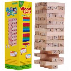 Jenga fa torony társasjáték  Inlea4Fun Wood Toys Előnézet