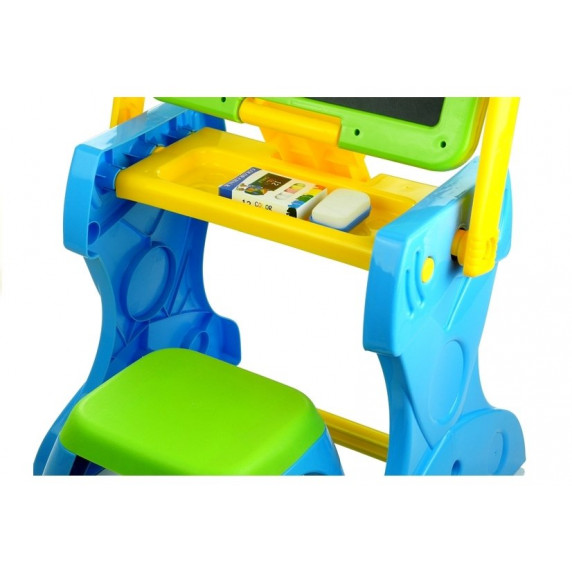 Multifunkciós rajzasztal 2v1 székkel Inlea4Fun LEARNING TABLE
