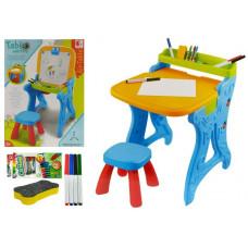 Multifunkciós rajzasztal székkel 2az1-ben Inlea4Fun PAINTING TABLE  Előnézet