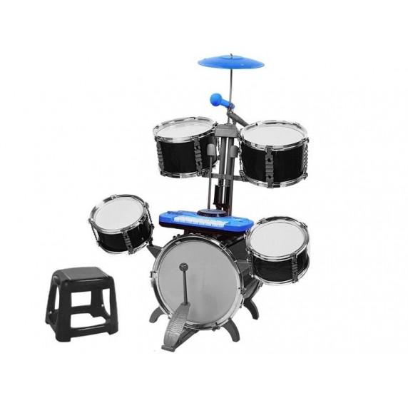 Játék dobfelszerelés Inlea4Fun JAZZ DRUM  - kék