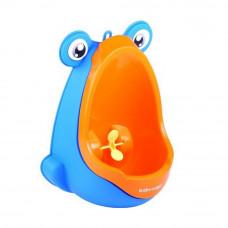 Béka formájú mini piszoár - Kék/narancssárga Előnézet