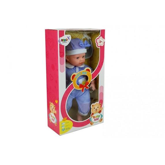 Inlea4Fun BABY KID 12 féle hangot adó baba 45 cm - kék