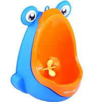 Béka formájú mini piszoár BabyYuga - Kék/narancssárga