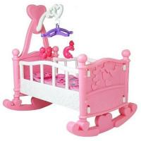 Játékbölcső babáknak Inlea4Fun BABY BED - rózsaszín