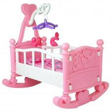 Játékbölcső babáknak Inlea4Fun BABY BED - rózsaszín Előnézet