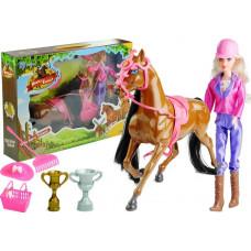 Inlea4Fun HORSES FAMILY Zsoké baba barna lóval és kiegészítőkkel  Előnézet