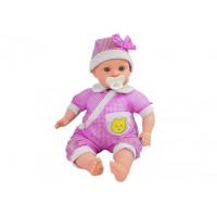 Játék baba 45 cm Inlea4Fun BABY KID - rózsaszín