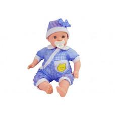 Inlea4Fun BABY KID 12 féle hangot adó baba 45 cm - kék Előnézet
