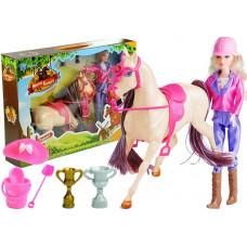 Inlea4Fun HORSES FAMILY Zsoké baba fehér lóval és kiegészítőkkel  Előnézet