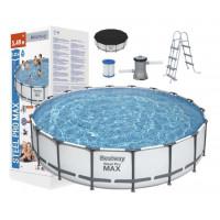 Medence papírszűrős vízforgatóval BESTWAY 56462 Steel Pro 549x122 cm