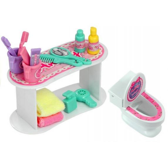 Inlea4Fun Fürdőszoba szett játékbabáknak