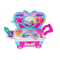Inlea4Fun MAKEUP CART Kozmetikai gurulós kocsi kiegészítőkkel