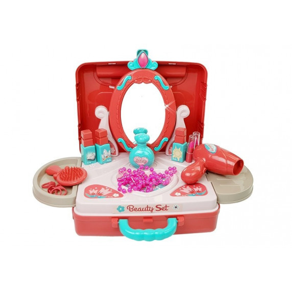Bőrönd fésülködő és smink kiegészítőkkel Inlea4Fun BEAUTY SET