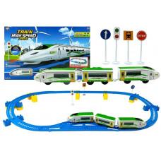 Inlea4Fun TRAIN HIGH SPEED Játék vasút kiegészítőkkel Előnézet