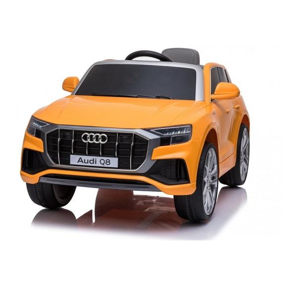 Elektromos kisautó lakkozott AUDI Q8 - narancssárga