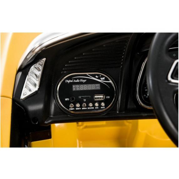 Elektromos kisautó AUDI R8 Spyder - Sárga