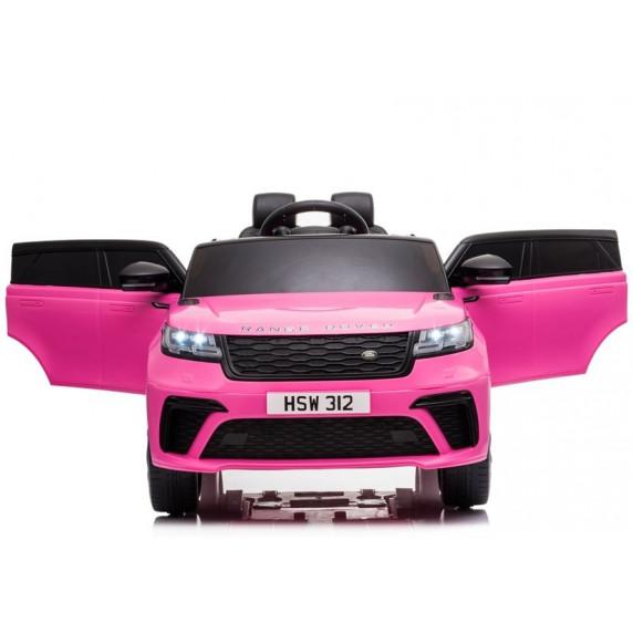 Elektromos kisautó lakkozott RANGE ROVER - Rózsaszín