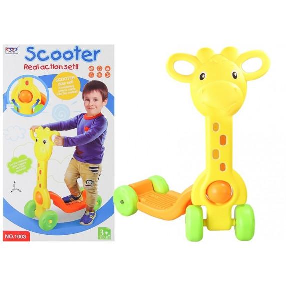 Inlea4Fun SCOOTER roller - zsiráf
