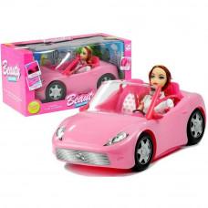 Inlea4Fun BEAUTY Rózsaszín autó babával Előnézet