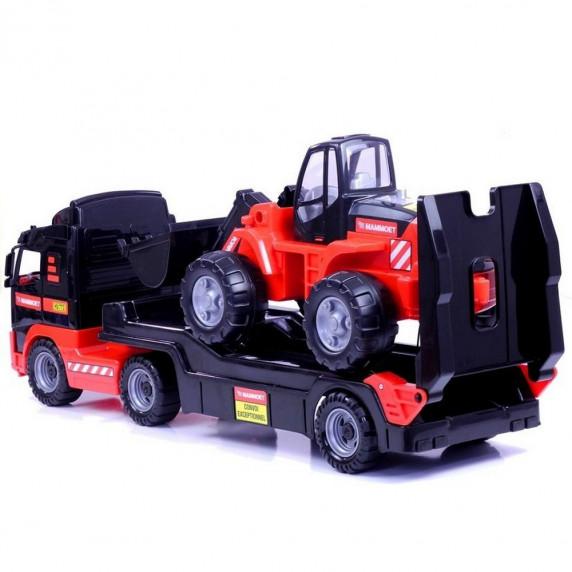 VOLVO MAMMOET Kamion tréler homlokrakodóval