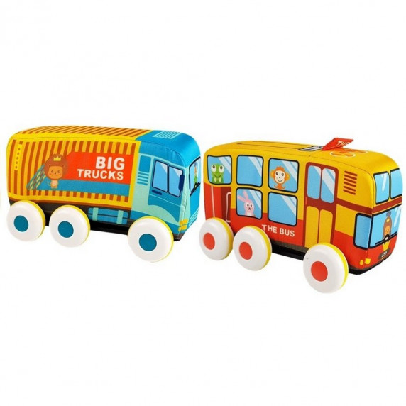 Játék autóbusz és teherautó HUANGER