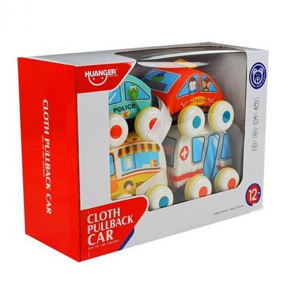 HUANGER Puha színes játék kisautó - 4 darab