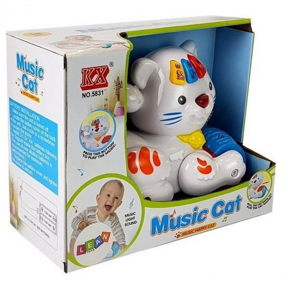 Interaktív játék macska Inlea4Fun MUSIC CAT