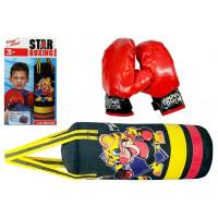 Boxzsák gyerekeknek Inlea4Fun STAR BOXING 36cm