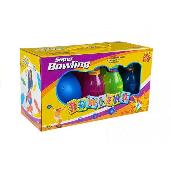 Inlea4Fun SUPER BOWLING Teke készlet - színes