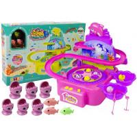 Inlea4Fun DOLPHIN PARK Horgász játék - rózsaszín