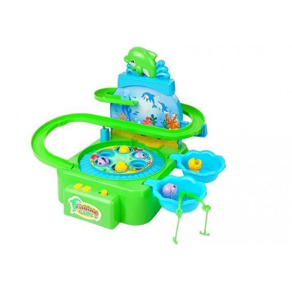 Inlea4Fun DOLPHIN PARK Horgász játék - zöld