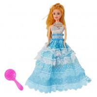 Hercegnő baba Inlea4Fun BIRTHDAY WISHES 28 cm - kék ruhás