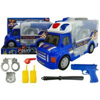 Rendőrautó zárható Konténerrel kiegészítőkkel Inlea4Fun POLICE STORAGE