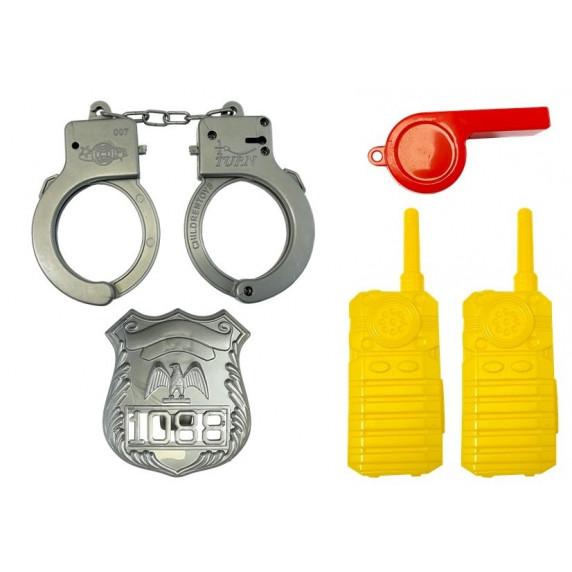 Inlea4Fun Rendőrautó zárható Konténerrel - kiegészítőkkel