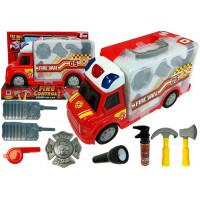 Tűzoltóautó bőröndben kiegészítőkkel Inlea4Fun FIRE CONTROL STORAGE