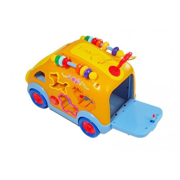 Formabedobós készségfejlesztő játékbusz HOLA
