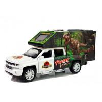 Dinoszauruszos autó fény- és hanghatásokkal Inlea4Fun DINOSAUR WORLD - fehér